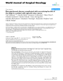 "Báo cáo khoa học: ""Retroperitoneal abscess complicated with necrotizing fasciitis of the thigh in a patient with sigmoid colon cancer"""