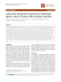 """Báo cáo khoa học: """"Late-onset peritoneal recurrence of advanced gastric cancer 20 years after primary resection"""""""