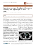 """Báo cáo khoa học: """" Surgical management of mediastinal liposarcoma extending from hypopharynx to carina: Case report"""""""