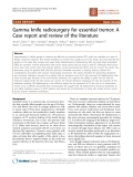 "Báo cáo khoa học: ""Gamma knife radiosurgery for essential tremor: A Case report and review of the literature"""