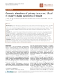 """Báo cáo khoa học: """"Genomic alterations of primary tumor and blood in invasive ductal carcinoma of breast"""""""