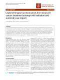 """Báo cáo khoa học: """"Leptomeningeal carcinomatosis from renal cell cancer: treatment attempt with radiation and sunitinib (case report)"""""""
