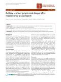 "Báo cáo khoa học: ""Axillary sentinel lymph node biopsy after mastectomy: a case report"""