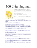 100 điều lãng mạn