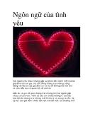 Ngôn ngữ của tình yêu
