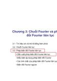 Chương 3: Chuỗi Fourier và phép biến đổi Fourier liên tục