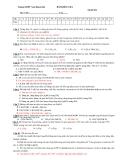 Đề kiểm tra môn Hoá - THPT Nam Duyên Hà