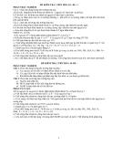 Đề kiểm tra 1 tiết Hoá 10 - Trắc nghiệm