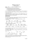 Đề kiểm tra 1 tiết môn Hoá học (Hướng dẫn giải)