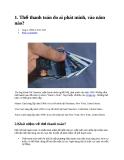 Tài liệu về thẻ tín dụng
