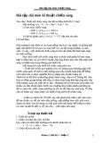 Bài tập thiết kế kĩ thuật chiếu sáng
