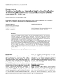 """Báo cáo y học: """"Combined antibiotic and free radical trap treatment is effective at combating Staphylococcus-aureus-induced septic arthritis"""""""