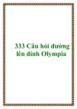 333 Câu hỏi đường lên đỉnh Olympia