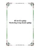Đề tài tốt nghiệp: Marketing trong doanh nghiệp