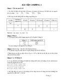 Thuyết lượng tử về nguyên tử và phân tử - bài tập chương 2