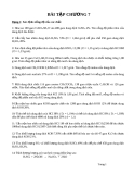 Thuyết lượng tử về nguyên tử và phân tử - bài tập chương 7