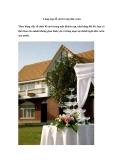 Lãng mạn lễ cưới trong nhà vườn