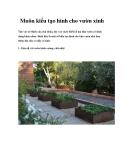 Muôn kiểu tạo hình cho vườn xinh