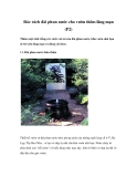 Róc rách đài phun nước cho vườn thêm lãng mạn (P2)