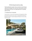 Bể bơi lý tưởng cho mùa hè rực nắng