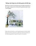 Những cảm hứng tạo nên không gian nội thất đẹp