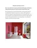 Phòng tắm màu hồng cho mùa hè