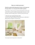 Những chú ý khi thiết kế phòng khách