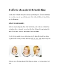 2 kiểu tóc cho ngày hè thêm sôi động