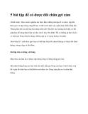 5 bài tập để có được đôi chân gợi cảm