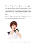 Massage đơn giản cho gương mặt tươi tắn cả ngày