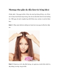 Massage thư giãn da đầu làm tóc bóng khoẻ