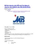 Đề thi chuyên viên Hỗ trợ Tín dụng & chuyên viên QHKH của MB