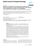 "Báo cáo khoa học: ""Experience with adjuvant chemotherapy for pseudomyxoma peritonei secondary to mucinous adenocarcinoma of the appendix with oxaliplatin/fluorouracil/leucovorin (FOLFOX4)"""