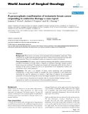 """Báo cáo khoa học: """"A paraneoplastic manifestation of metastatic breast cancer responding to endocrine therapy: a case report"""""""