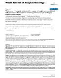 """Báo cáo khoa học: """"Outcomes of surgical treatment for upper urinary tract transitional cell carcinoma: Comparison of retroperitoneoscopic and open nephroureterectomy"""""""