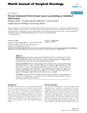 """Báo cáo khoa học: """"Caecal metastasis from breast cancer presenting as intestinal obstruction"""""""