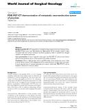 "Báo cáo khoa học: ""FDG PET-CT demonstration of metastatic neuroendocrine tumor of prostate"""