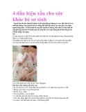 4 dấu hiệu xấu cho sức khỏe bé sơ sinh