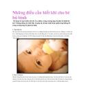 Những điều cần biết khi cho bé bú bình