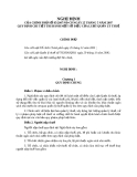 Nghị định 85/2007/NĐ-CP quy định một số điều của luật quản lý thuế