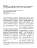 "Báo cáo y học: ""Direct interaction of immunoglobulins with synovial fibroblasts: a missing link in the pathogenesis of rheumatoid arthritis"""