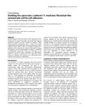 "Báo cáo y học: ""Building the synovium: cadherin-11 mediates fibroblast-like synoviocyte cell-to-cell adhesion"""