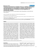 """Báo cáo y học: """"Potential involvement of oxidative stress in cartilage senescence and development of osteoarthritis: oxidative stress induces chondrocyte telomere instability and downregulation of chondrocyte function"""""""