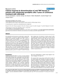"""Báo cáo y học: """"Clinical response to discontinuation of anti-TNF therapy in patients with ankylosing spondylitis after 3 years of continuous treatment with infliximab"""""""