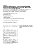 """Báo cáo y học: """"Correction: Clinical response to discontinuation of anti-TNF therapy in patients with ankylosing spondylitis after 3 years of continuous treatment with infliximab"""""""