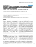 """Báo cáo y học: """"Expression of CD147 on monocytes/macrophages in rheumatoid arthritis: its potential role in monocyte accumulation and matrix metalloproteinase production"""""""