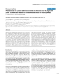 """Báo cáo y học: """"Prevalence of opioid adverse events in chronic non-malignant pain: systematic review of randomised trials of oral opioid"""""""