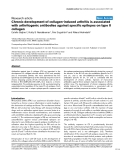 """Báo cáo y học: """"Chronic development of collagen-induced arthritis is associated with arthritogenic antibodies against specific epitopes on type II collagen"""""""
