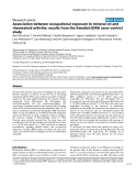 """Báo cáo y học: """"Association between occupational exposure to mineral oil and rheumatoid arthritis: results from the Swedish EIRA case–control study"""""""