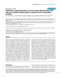 "Báo cáo y học: ""Pyridoxine supplementation corrects vitamin B6 deficiency but does not improve inflammation in patients with rheumatoid arthritis"""